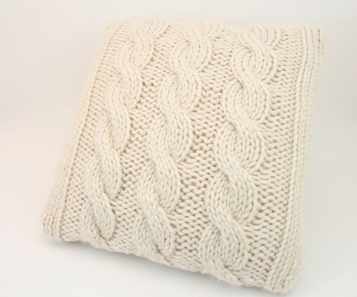 PDF DIGITAL PATTERN:Knit Pillow Cover Pattern,Throw Pillow Cover ...