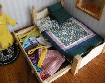 Barbie Wooden Trundle Drawer Bed Sale