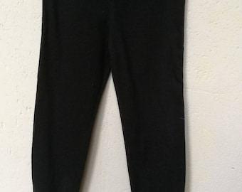 Leggings fabric Black jersey T 3 years