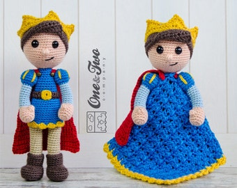 Combo Pack - Prince Tristan Lovey and Amigurumi Set for 7.99 Dollars - PDF Crochet Pattern Instant Download - Special Offer