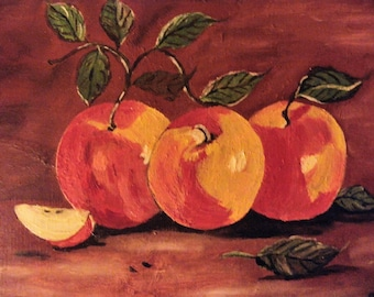 Apples of the orchard, the oil on canvas,Mother's day,gift for mommy, The nature, Art and Collections, présent for mom,wall art,Art,apple