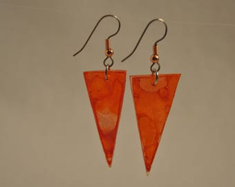 "Earrings triangular series ""translucent colors"""