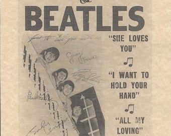 The Beatles Ed Sullivan Show Feb 9 1964 CBS Studios > Replica > Reprint > Paul McCartney > John Lennon > Ringo Starr > George Harrison