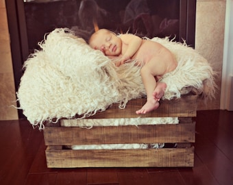 Rustic Stained Wood Crate, Photo Prop, Crate Shelving, Storage, Wedding Crate, Engagement, Baby Shower, Newborn Photography Prop