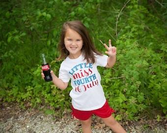 Kids fourth of July shirts, 4th of July kids shirts, Little Miss fourth of July, Toddler shirt 4th of July, kids Fourth of July outfit