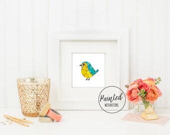 Baby Bird PRINT - Nursery Art Print - Nursery Bird Decor - Small Bird Print - Kids Room Decor - Baby Bird Wall Art - Cute Bird Art
