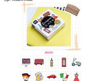 Europe Stickers Pack SM222823 45pcs