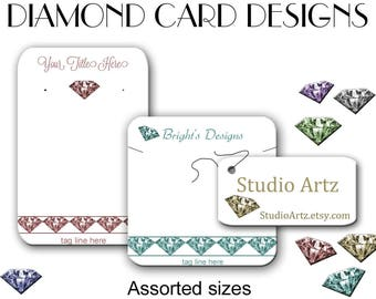 Jewelry Display - Earring Cards - Necklace Display Cards - Tags - Earring Holders - Bracelet tags - Products Cards and Tags
