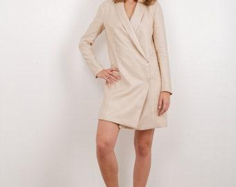 Linen blush dress