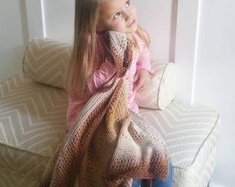 Crochet Pattern, Caramel Whirl Blanket, Lovey