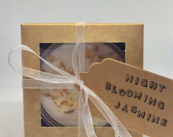 Night Blooming Jasmine- 100% Natural Soy Candle- Gift Set