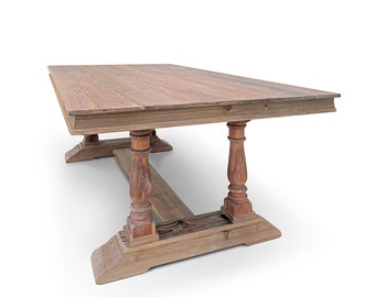 Dining Table, Table, Wood Table, Reclaimed Wood, Trestle Table, Kitchen Table, Handmade