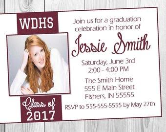 Graduation Invitation / Graduation Open House Invitation