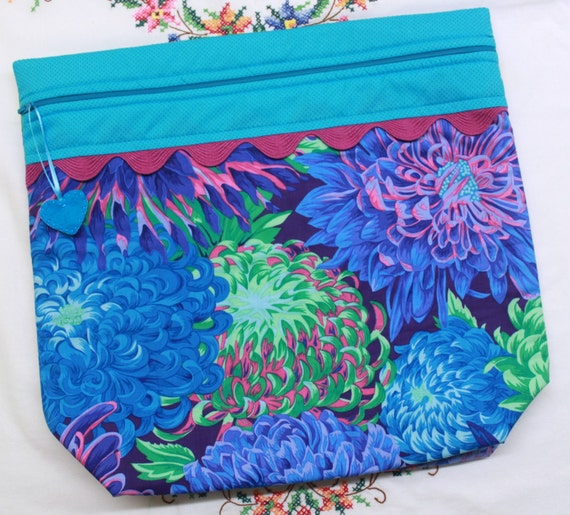 MORE2LUV Japanese Chrysanthemum Cross Stitch Embroidery Project Bag