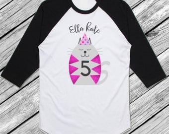 Kitty Cat Birthday Shirt/Personalized Cat Shirt/Cat Birthday/Birthday Gift/Cat Party/Girls Birthday/Kitty Cat Birthday/Cat Theme Birthday/