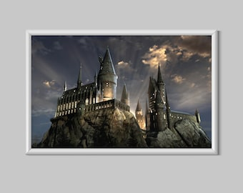 Harry Potter Hogwarts Castle Fantasy Canvas Print Poster
