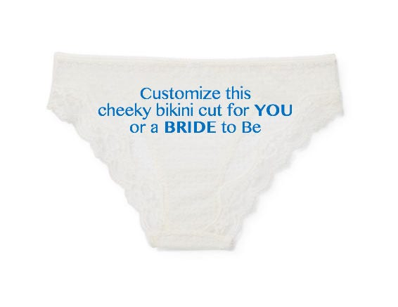 customized panties personalized underwear for her bridal shower gift for bride