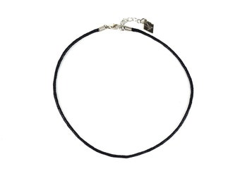 Black Cord Choker, simple choker, thin choker, layering necklace,  grunge, minimal, KADABRA