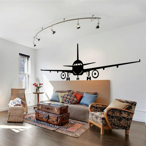 Airplane Wall Decal Jumbo Jet Vinyl Sticker Home Arts Wall