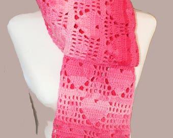 PDF Crochet Heart Scarf