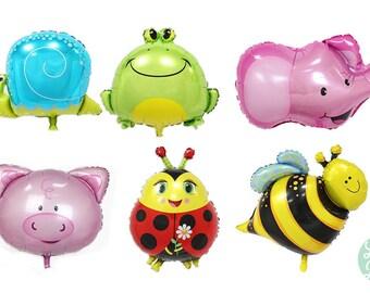 Animal Balloons - Pig Balloon - Elephant Balloon - Frog Balloon - Snail Balloon - Bee Balloon - Ladybug Balloon - Frog Balloon