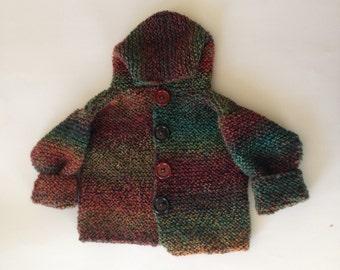 Rainbow Striped Chilren's Sweater • Sweater • Baby Sweater • Child Sweater • Knit Baby Sweater • Knit Child Sweater