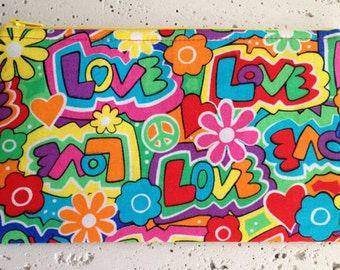 Peace and Love Gadget Pouch/Zipper Pouch