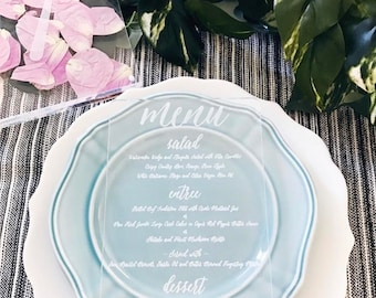 Laser Cut Etched Acrylic Menu, Wedding Decor, Party Decor, Perfect Weddings, Gold Wedding Decor, Acrylic Wedding Signs, Custom Decor