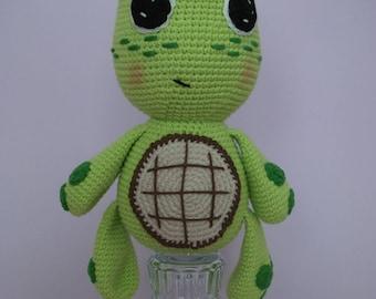 Amigurumi crochet turtle - handmade toy