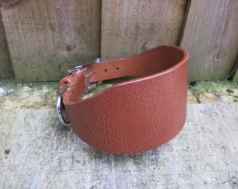 Quality leather greyhound collar - hand-stitched with attention to detail to ensure no rough edges