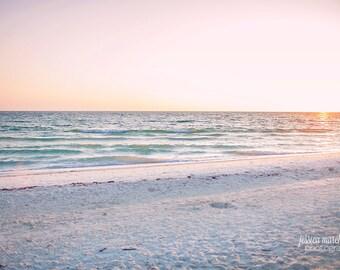 beach photograph, ocean photography, nature photography, beach decor, shabby chic decor, landscape photography, wall art prints, large art
