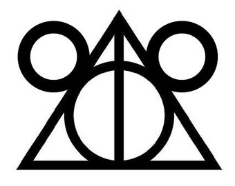 Simple Disney and  Deathly Hallows Symbol Vinyl Decal Sticker