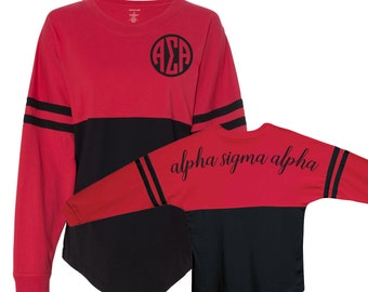 Alpha Sigma Alpha, ASA, Alpha Sigma Alpha shirt, Greek, Alpha Sigma Alpha pom pom shirt, greek letters, game day