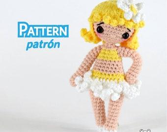 Patrón muñeca, patrón pdf, patrón amigurumi, muñeca crochet, muñeca articulada, muñeca de ganchillo, amigurumi pdf, amigurumi, crochet