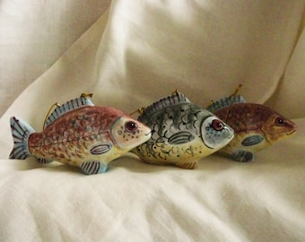 CUSTOM ceramic fish figure - interior fish home decor - wall fish - wall pottery - Made to Order