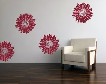 Wall Daisies Decals - Daisies Wall Decals - Flower Wall Sticker 00007