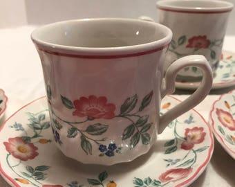 Tea Cups & Saucers  Briar Rose Pattern