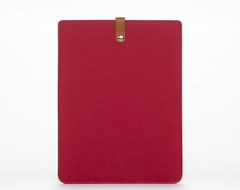 Macbook Pro 13 Sleeve - Felt Macbook Pro 13 Cover - Macbook 13 Pro Case - Felt and Leather Macbook Cover - Macbook 13 Pro Bag