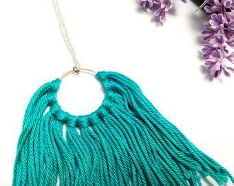 Dream necklace, bohemian necklace, silver clasp 925, for her, green water, bohemian jewels, dream jewels,