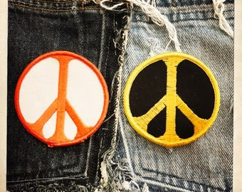 Authentic PEACE SIGN PATCH – Round Patch Authentic Vintage 60s 70s Denim Hippy Hippie Boho