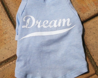 Dog Clothing-Vintage Dream Graphic Baseball Tee