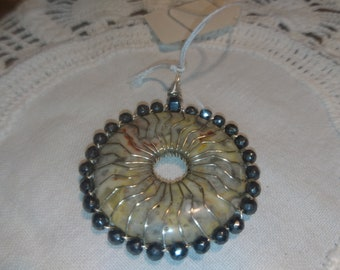 Natural Stone and Wire Work Pendent