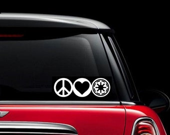 Peace, Love and Galactic Republic decal