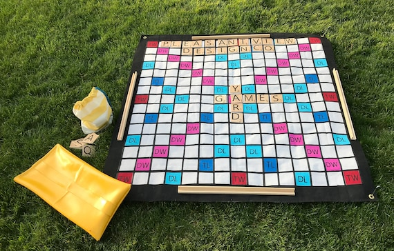 Giant outdoor Scrabble game