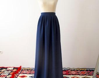 Bridesmaid skirt, Long skirt, navy skirt, chiffon skirt, navy bridesmaids skirt, bridesmaids skirt, navy skirt, long skirt, navy long skirt