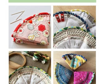 Stitchy Pie needle case pattern - store and organise hand sewing or machine needles - PDF pattern / instant download