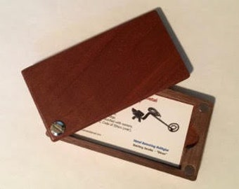 Exotic Wood Business Card Holder
