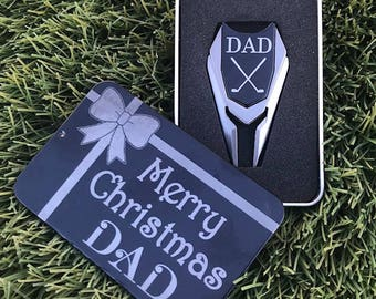 Personalized Golf Ball Marker Divot Tool Remover-DAD Christmas,Fathers Day Golf Gift For Men,Dad Gift,Men's husband gift,golf accesories