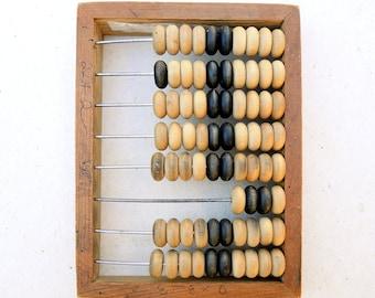 Vintage wooden abacus School abacus