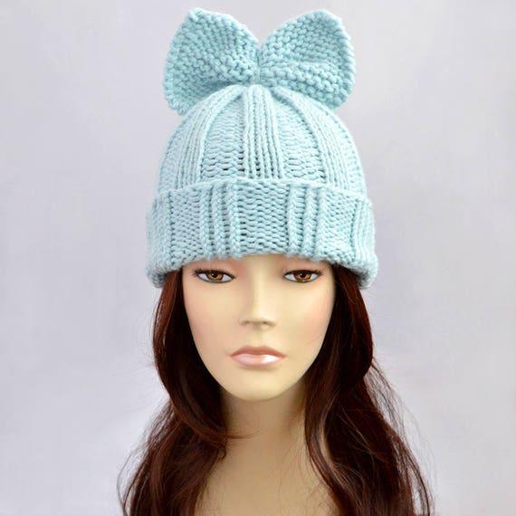 Fairy Kei Hat Knitting Pattern Bow Hat Pattern Woman Hat